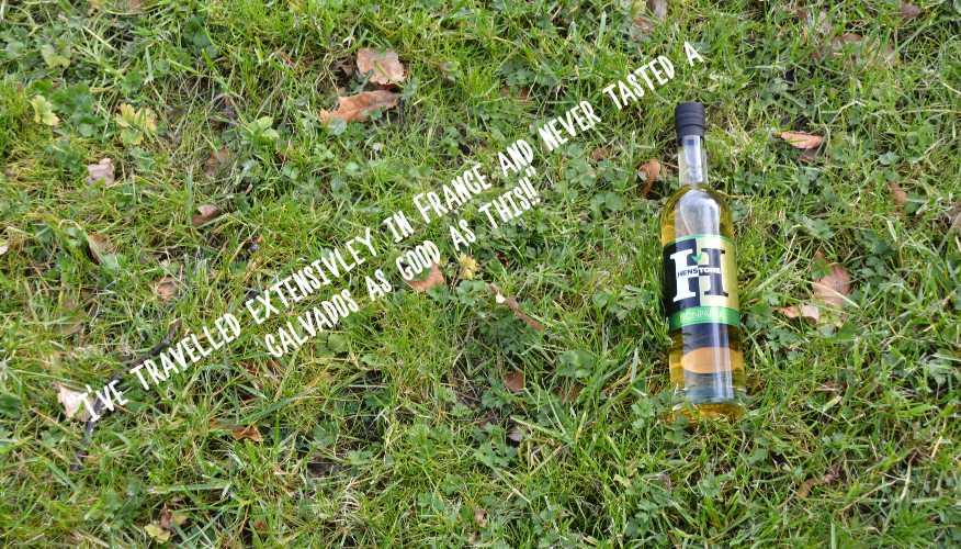 Apple brandy lying on the grass