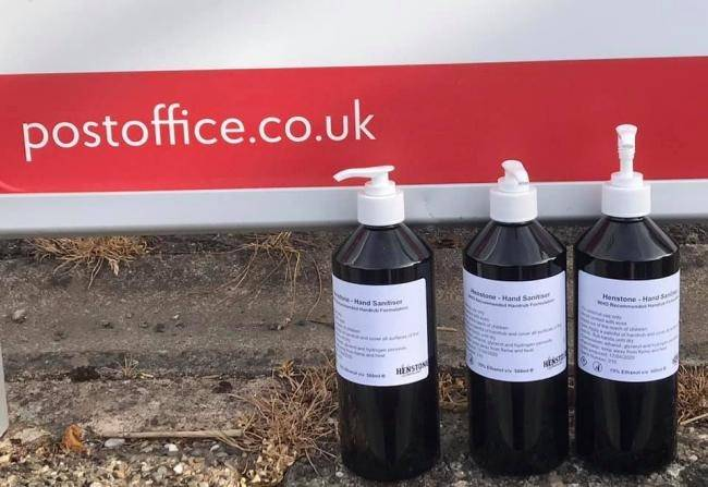 Post Office photo about sanitiser