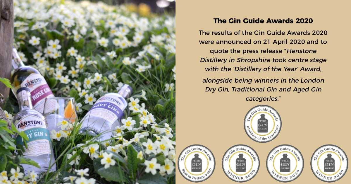 Henstone Distillery - winners at the Gin Guide Awards