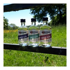 All three Henstone Gins as miniatures
