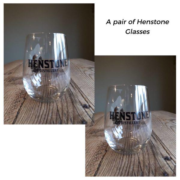 Henstone Glasses on white background